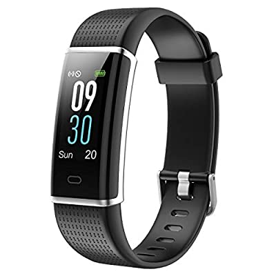 Letsfit Fitness Tracker, Activity Tracker with Heart Rate Monitor, Color Screen Pedometer Watch, Step Counter, Calorie Counter, Sleep Monitor and IP68 Waterproof Smart Watch for Men Women