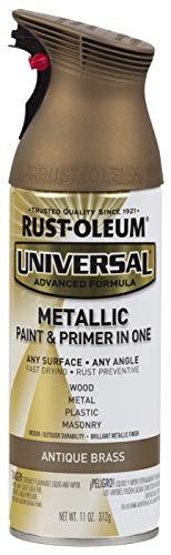 Rust-Oleum Antique Brass 260728 Universal All Surface Spray Paint, 11 oz, Metallic, 11 Ounce