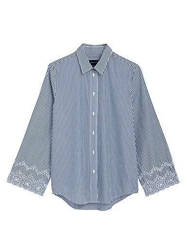 GANT Bluse Blau/Weiß 40