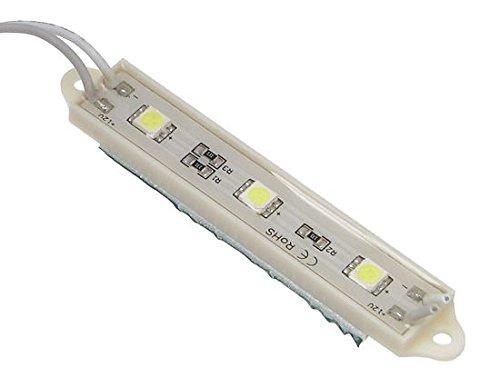 20st 5050, LED Modul Wasserdicht IP65, 3 SMD 5050 LEDs warmweiss 0.72W 12V DC (WARMWEISS)