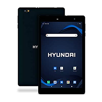 "Hyundai HyTab 8WC1, 8"" Android Tablet, 1GB RAM, 32GB Storage, Quad-Core Processor, 8"" HD IPS Display, Android 10 Go Edition, Dual Camera, WiFi, Plastic Body Black"