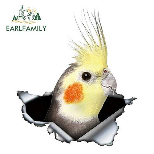 A/X Sticker de Carro 13 cm 11,3 cm Cockatiel Parrot pájaro Encantador Coche Pegatina Protector Solar portátil Motocicleta Accesorios de Coche calcomanía Personalizada