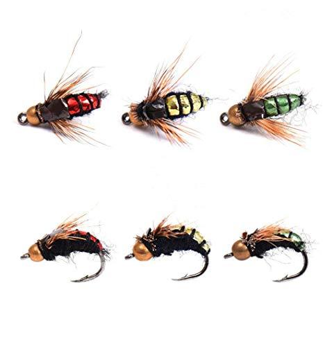 JasCherry 40 Piezas Insecto Señuelos de Pesca