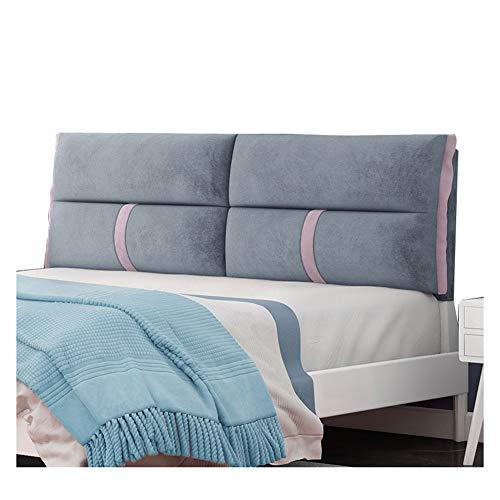 JFya Cojín cabecero, Dormitorio Sofá Cama de la Almohadilla Suave de Fibra superfina Leer Volver cómodo Relleno de Esponja, 4 Colores (Color : C, Size : 160CM)