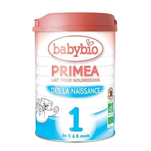 Babybio Lait en poudre Priméa 1, de 0 à 6 mois, bio - La boîte de 900g