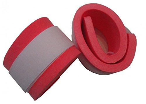 Schwimmbänder Armschwimmer Beinschwimmer 300x80x38mm Starker Auftrieb NEU&Original (Rot) Klettbänder Klettverschluss farblich sortiert