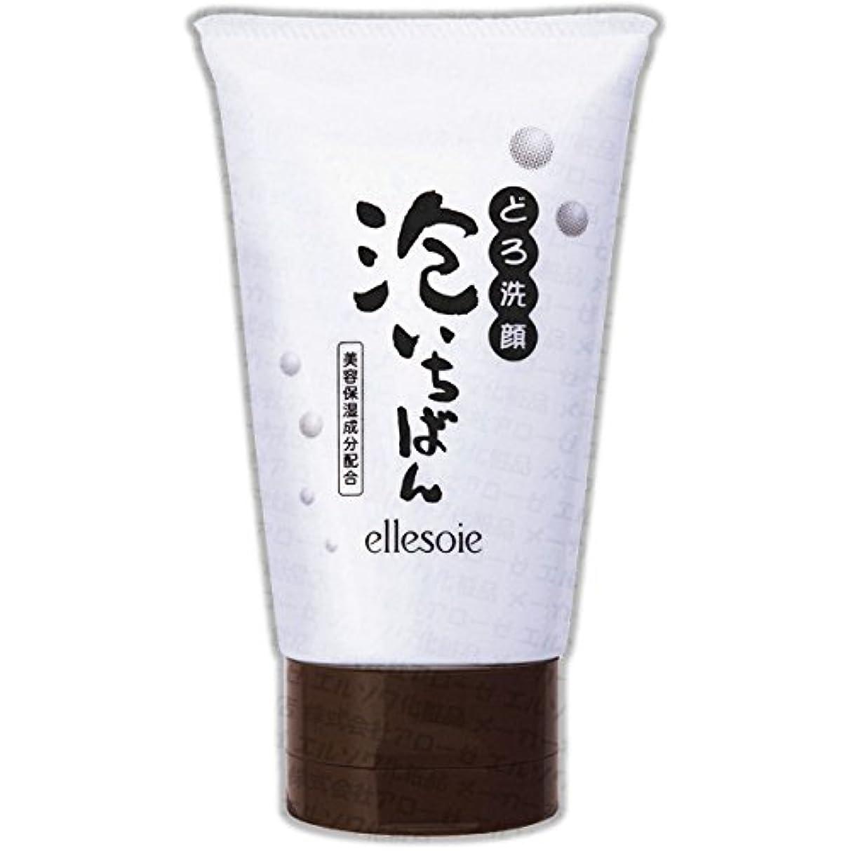 汚す牛肉石油エルソワ化粧品(ellesoie) どろ洗顔 泡いちばん チューブ容器120g