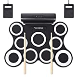 PAXCESS 9 Pads Electronic Drum Set, Electric Drum Set with Headphone Jack, Built in Speaker and Battery, Drum Stick,...
