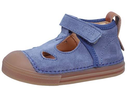 Ocra Lauflernschuhe 622 Baby Leder Sandalen Klett Blau, Schuhgröße:EUR 22