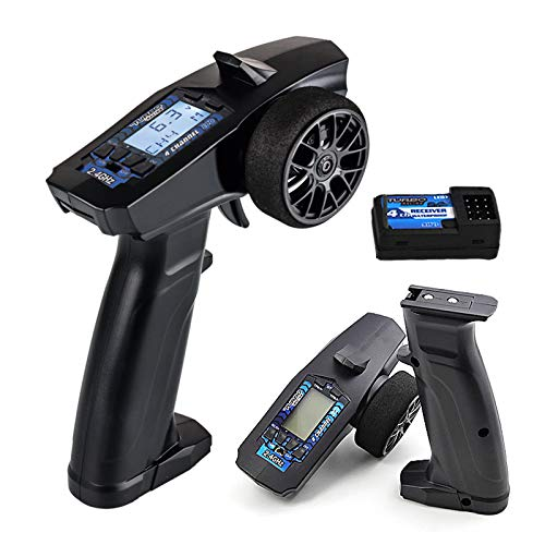 FPVERA Rc Remote Control RC Transmitter 4 Channels Radio Controller with Receiver for RC Car Boat and Other Models.