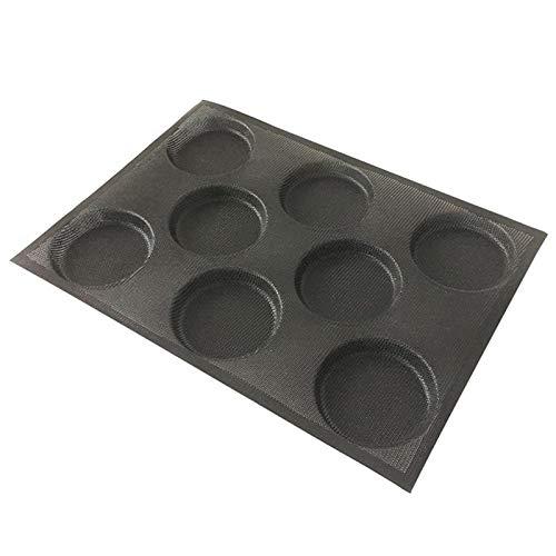 Moldes de silicona para hornear pan de hamburguesa perforados para hornear de tamaño medio