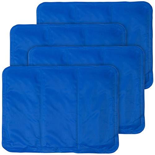 Newgen Medicals Kühlmatte: 4er-Set kühlende Kissenauflagen, 30 x 40 cm, blau (Kühlkissen Bett)