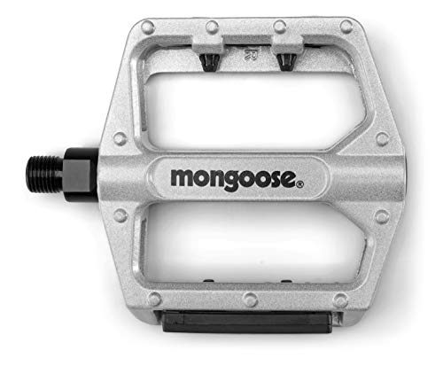 Mongoose Adult Mountain Bike Pedals, Silver