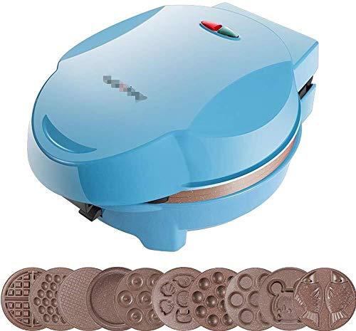 Gaufrier Sandwich Panini machine multifonctions Petit-déjeuner Machine avec 10 moules différents for la cuisson Faire Gaufres/Muffins/Donuts/gâteaux de crème glacée gaufrier professionnel