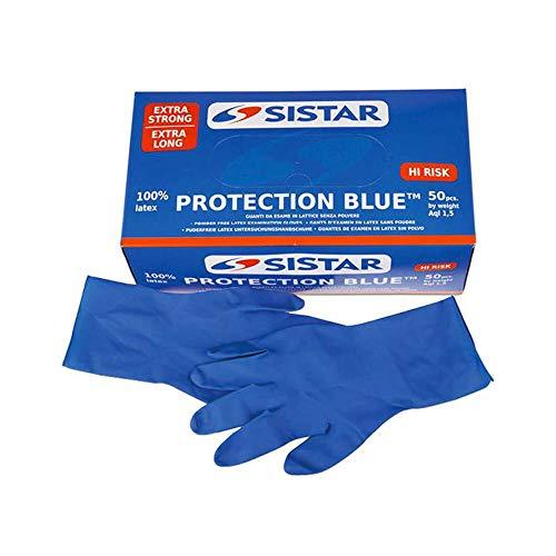 GUANTI PROTECTION BLUE LATTICE TG.L PZ.50