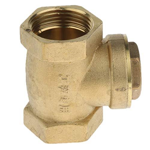 """CLAPET  ANTI-RETOUR 1/""""  FF-  PVC RACCORD POMPE A EAU PISCINE 30CAP34340H"""