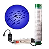 Green Blob Outdoors New Blue Fishing Light (Blue), Underwater, w/ 30ft Cord, LED, Fish Attractor, Crappie, Snook, Bass, Catfish Lure (15,000 3-Prong Plug, Blue w/Timer)