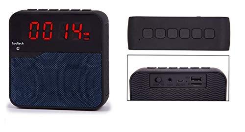 Kooltech 018833 Altavoz Radio, Despertador, Bluetooth, Azul