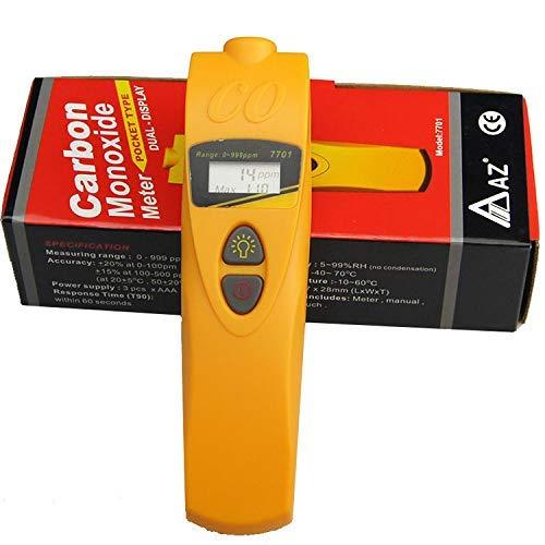 KONGZIR Handel Digital CO Monóxido de Carbono Medidor de 0-999 ppm de CO detector de gas portátil AZ7701