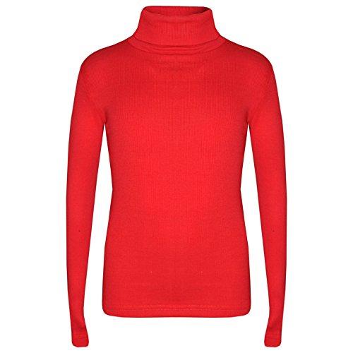 A2Z 4 Kids Enfants Filles Polo Cou T Shirt Top Designer Épais - Polo Neck 002 Red 7-8