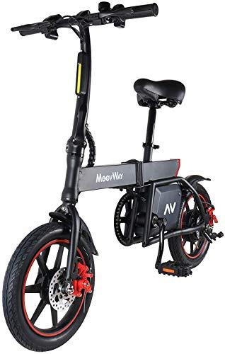 MoovWay Vélo Électrique Pliable, Jusqu'à 30km/h, Vitesse Réglable 14' Urban Bike, Autonomie...