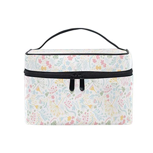 Borse per cosmetici Travel Makeup Cosmetic Bags Daisy Flower Han Drawn Art Toiletry Bags Makeup Suitcase