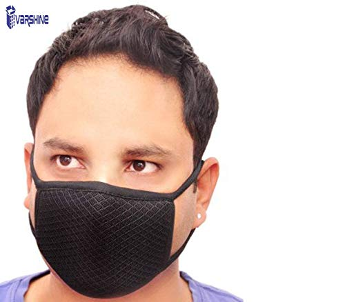Varshine protection face mask with elastic ear Loop, prevents from Bacteria, many type of virus (Pack of 3 Pcs) k65