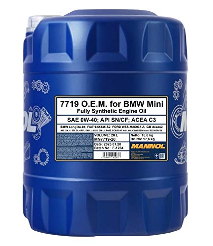 MANNOL 20 Liter, 7719 0W-40 LONGLIFE - 04 MOTORÖL