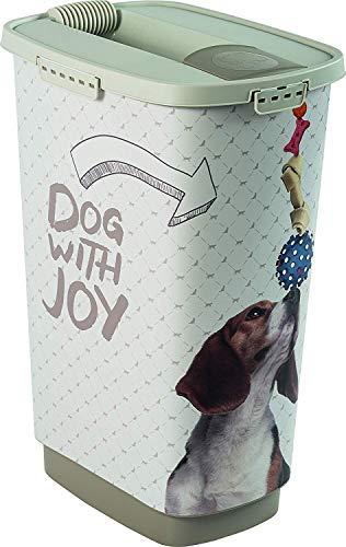 Rotho Cody, Recipiente de comida para mascotas de 50 litros con tapa y tolva para una dosificación práctica, Plástico PP sin BPA, muestra, 50l 39.7 x 29.6 x 58.5 cm