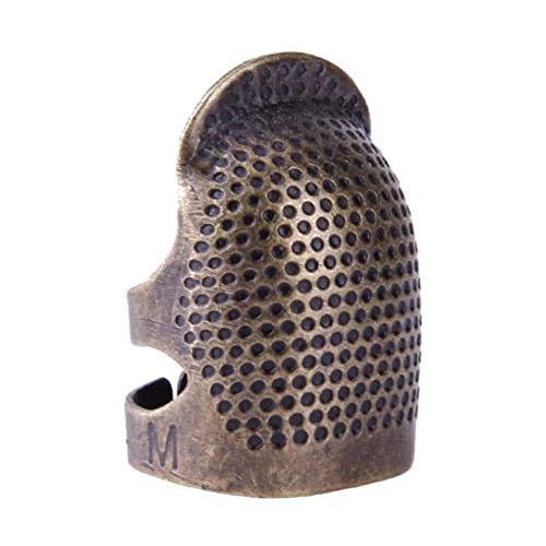 Kakiyi Vintage Fingerhut Ring Nähen Quilten Cobre Cobertura Fingertip-Schutz Aguja Presse Werkzeug-Zubehör, 2, Medium