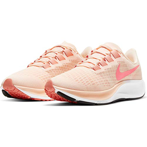Nike Wmns Air Zoom Pegasus 37, Zapatillas para Correr Mujer, Crimson Tint Crimson Pulse Crimson Bliss White Black, 37.5 EU