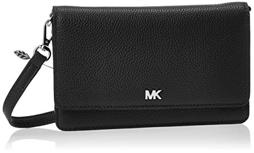 "100% Pebbled Leather; Silver-tone hardware 7""W X 4.5""H X 1""D Exterior Details: Back Smartphone Pocket Interior Details: Zip Pocket, 5 Slip Pockets, 11 Card Slots Snap Fastening"