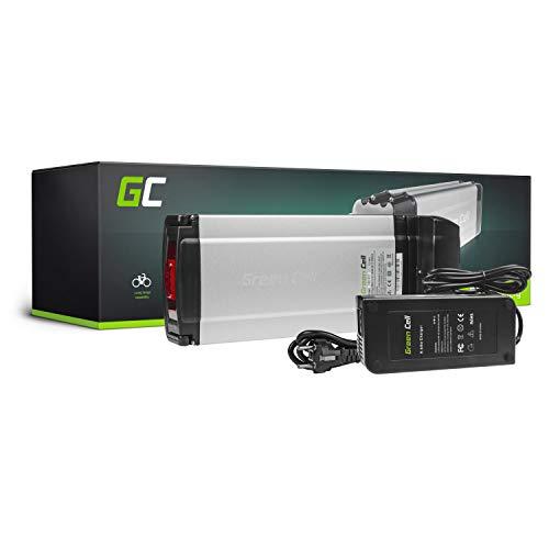 GC® Bateria Bicicleta Electrica 36V 11.6Ah con Celdas Originales Rear Rack Li-Ion Batería y Cargador