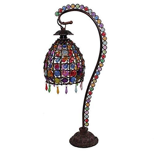 Lámpara de mesa clásica Dormitorio Lámpara de cabecera Lámpara de jardín Color Tocador Exóticas Lámparas románticas Lámpara de mesa de hierro forjado XYJGWSTD