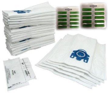 Miele GN Staubsaugerbeutel X 20& Filter und Lufterfrischer–Microfaser Staubbeutel mit Kunststoff Tasche Rahmen–Auspuff Filter geeignet für S2110,,, S300i, S400, S400I, S5000, S600Und S800Serie Katze und Hund–von RADVAC