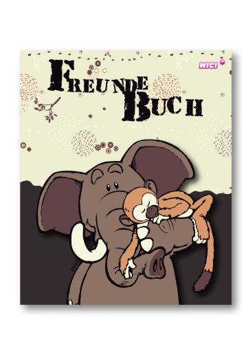 NICI 33073 - Freundebuch Elefant und AFFE Deutsch Din A5