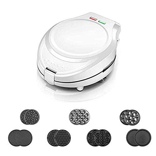 AOO Waffel-Hersteller Flip, 7-in-1-Waffeleisen Eisen-Maschine, Multifunktions-Kuchen Ofen Pan Eggette Maschine, Non-Stick Teller, Easy Clean Halteerungen