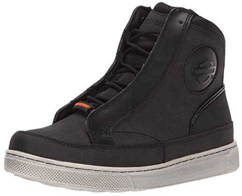 HARLEY-DAVIDSON FOOTWEAR Women's Vardon Sneaker, Black, 09.5 M US