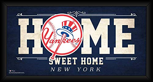 """New York Yankees Framed 10"""" x 20"""" Home Sweet Home Collage - MLB Team Plaques and Collages"""