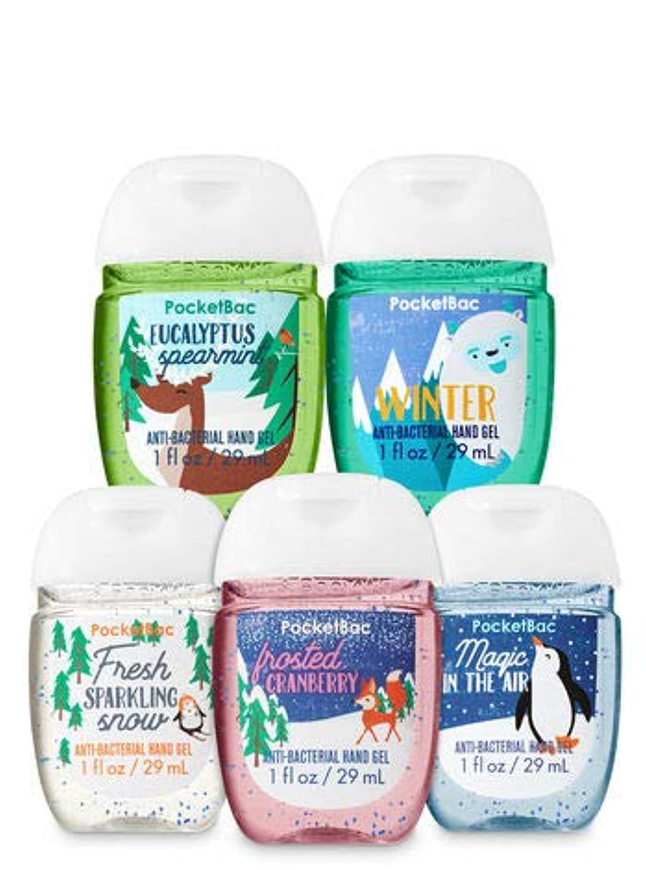 引き受ける安定申し込む【Bath&Body Works/バス&ボディワークス】 抗菌ハンドジェル 5個セット スノーディライトフル Snow Delightful PocketBac Hand Sanitizer Bundle (5-pack) [並行輸入品]