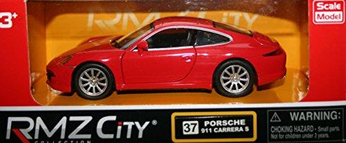 Tire hacia atrás y ve Die Cast Porsche 911Carrera S, color rojo (hl7b)