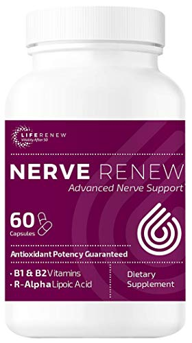 Life Renew: Nerve Renew Advanced Nerve Support - Alternative Nerve Pain Treatment with Alpha Lipoic Acid and Vitamin B Complex - Dietary Supplement - 60 Capsules - Antioxidant Potency Guaranteed