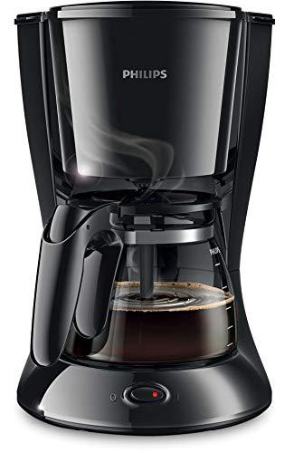 Philips HD7461/20 New Daily Kaffeemaschine Aroma-Swirl mit Abschaltautomatik, Glaskanne, weiß/schwarz