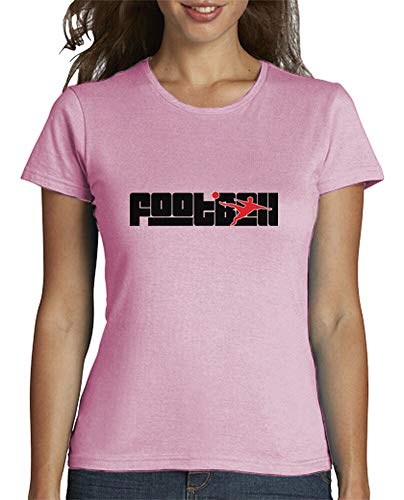 tostadora - T-Shirt Tee Shirt Fußball - Frauen Rosa XL