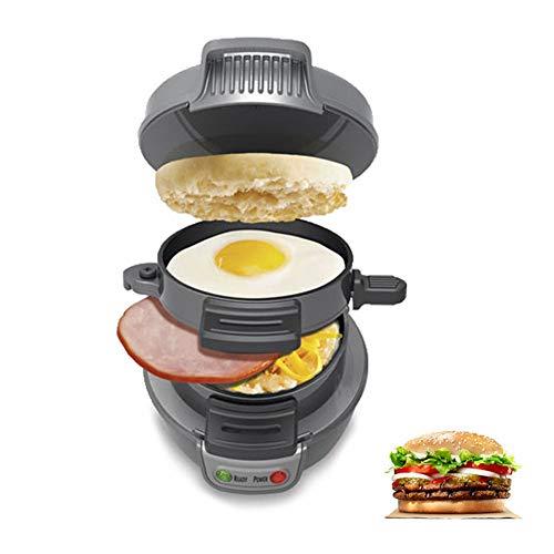 Frühstück Sandwich Maker mit Timer, Non-Stick-Pan Set für Eier, Frittatas, Paninis, Pizza Pockets & Sonstiges Frühstück, Mittagessen, und Abendessen Optionen-Silber