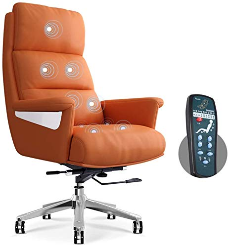 ZXCVB Executive Home Office Stuhl Schreibtischstuhl, ergonomisch verstellbare Massage Computer Task Stuhl PC-Stuhl mit hoher Rückenlehne drehbar, höhenverstellbar