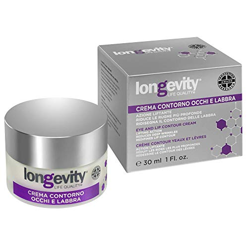Longevity - Eye and Lip Contour Cream - Treatments Designed to Increase Rhythms of Cellular Growth - Repair Epidermis and Moisturize The Skin - Prevent Aging Skin