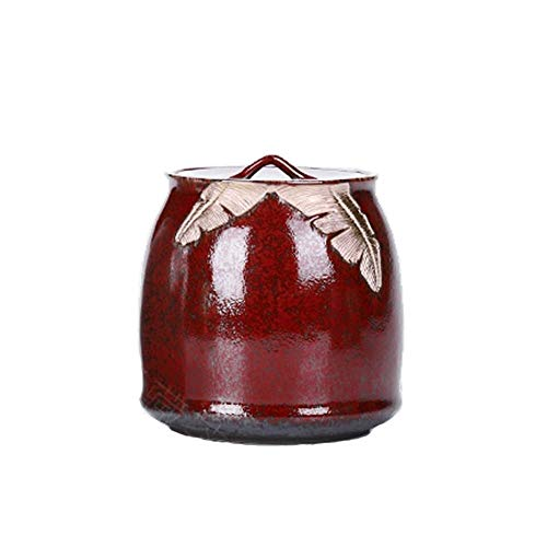 LIOYUHGTFY Urnas para Cenizas Adulto min Urna Funeraria De Urnas De Cremación for Cenizas Humanas Sello A Prueba De Humedad Rojo Verde (Tamaño: 130X140mm) (Color : Glaze, Talla : Pequeña)