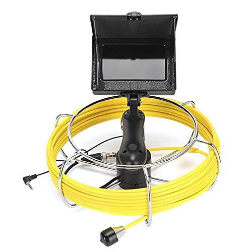Pwshymi Cámara de vídeo Recargable Impermeable de 4,3 Pulgadas Endoscopio de alcantarillado de Drenaje Resistente al frío de Mano para inspección de(10 Meters)
