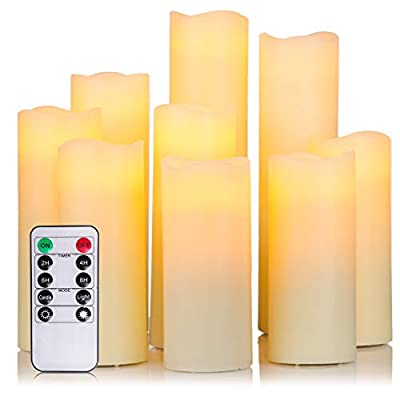 12 Pack Flameless LED Votive Tea Light Candles, Flickering Realistic Electric Candles Battery Operated for Seasonal & Festival Celebration, Warm White